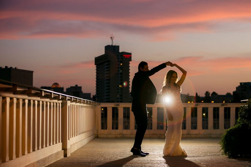 Dancing couple at the Mamilla Jerusalem hotel