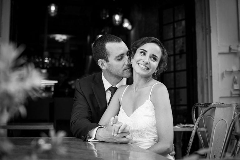 couple wedding day portrait at Tel Aviv