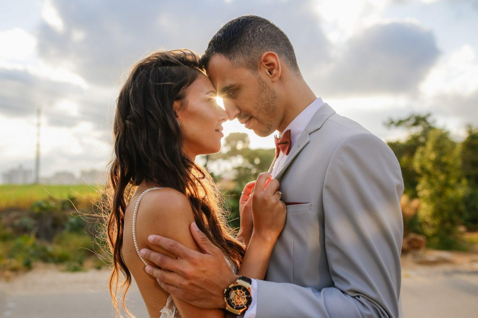 Beautiful couple wedding portrait