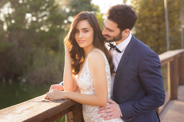 Gorgeous couple portrait at Ronit Farm